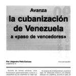 """Folleto: Avanza la cubanización de Venezuela a """"paso de vencedores"""""""