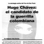 Folleto: Hugo Chávez: el candidato de la guerrilla colombiana