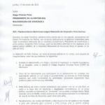 Senadores bolivianos exigen a Chávez liberar a Peña Esclusa