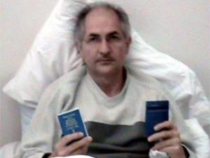 Antonio Ledezma durante la huelga de hambre