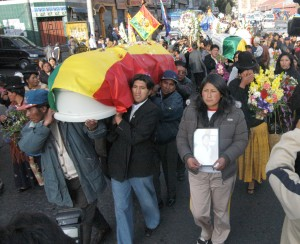 Manifestación por masacre de Pando