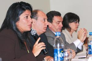 La presidenta de la Comisión Interamericana de los Derechos Humanos, (CIDH), Luz Patricia Mejía, dio lectura al informe preliminar.