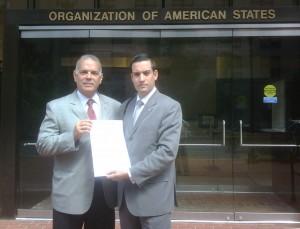 Alejandro Peña Esclusa y Jaime Arturo Restrepo en la OEA