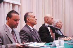 """Peña Esclusa durante la conferencia """"El comercio internacional desde el punto de vista venezolano"""""""