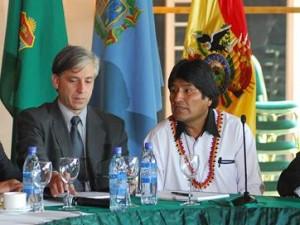 Álvaro Garcia y Evo Morales