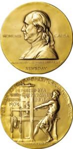 Monedas de oro del Premio Pulitzer