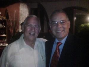 Alejandro Peña Esclusa (der) junto a Roberto Micheletti (izq)