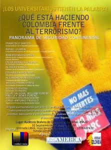 ¿Qué esta haciendo Colombia frente al terrorismo?