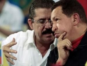 Zelaya con Chávez