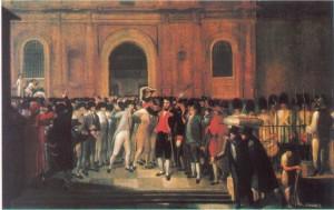 Reunión en el cabildo de Caracas, Juan Lovera (1776 - 1841)