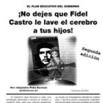 Folleto: ¡No dejes que Fidel Castro le lave el cerebro a tus hijos!