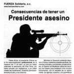 Folleto: Consecuencias de tener un Presidente asesino